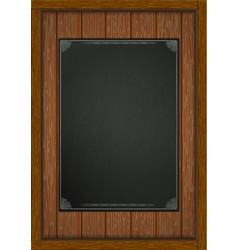 Wooden frame with boards black sheet a4 vector