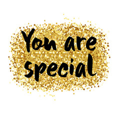 You are special card vector