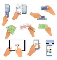 All for business payments human hands holding vector image vector image