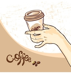 coffee hand drawn vector image