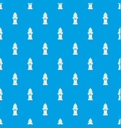 Hydrant pattern seamless blue vector