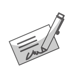 Pen writing on card icon image vector