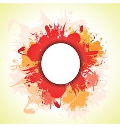 red splash vector image vector image