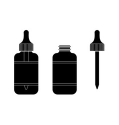 eye drop bottle isolate on white background vector image vector image