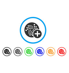 plus iota rounded icon vector image vector image