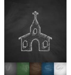 church icon Hand drawn vector image