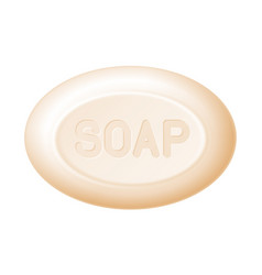 ellipse bar of soap isolated on white easy vector image