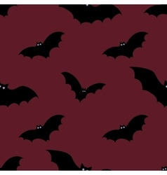 Halloween seamless background with bats vector image vector image