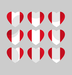 Heart with the flag of peru i love peru vector