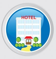 hotel icon vector image