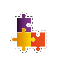 puzzle solution strategy image vector image