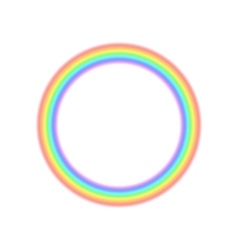 Radial rainbow icon in realistic style vector image