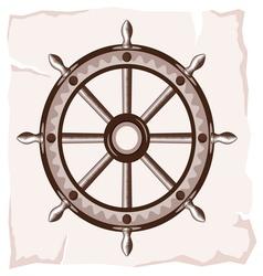 Ship wheel retro resize vector