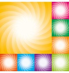 star burst backgrounds vector image vector image