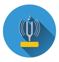 Tuning fork icon vector