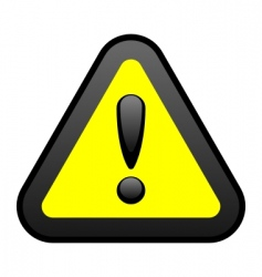 yellow warning sign vector image vector image