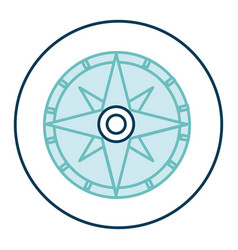 compass guide isolated icon vector image vector image