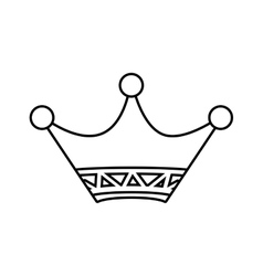 Crown icon Vip and luxury design graphic vector image vector image