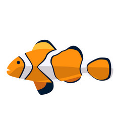 fish icon flat ocean or sea vector image vector image
