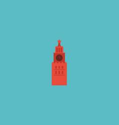flat icon kremlin element of vector image