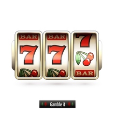 Realistic slot machine isolated vector