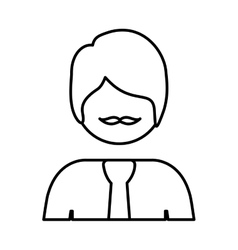 silhouette half body man with formal suit vector image vector image