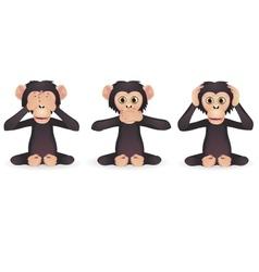 three wise monkey vector image