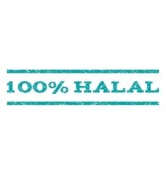 100 Percent Halal Watermark Stamp vector