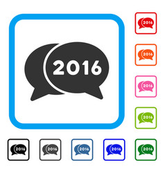 2016 chat framed icon vector image