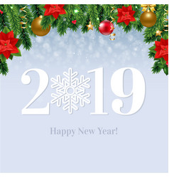 2019 happy new year card vector