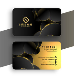 Abstract black and golden business card design vector