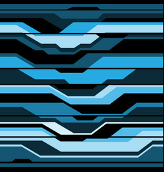 Abstract blue black line cyber futuristic seamless vector