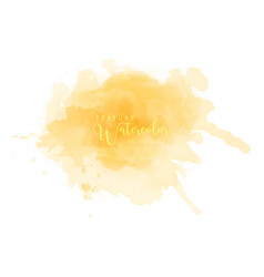 abstract isolated yellow watercolor splash vector image
