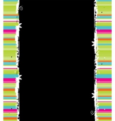 abstract striped border vector image