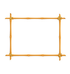 bamboo signboard frame vector image