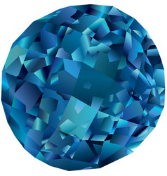 Beautiful isolated blue topaz vector