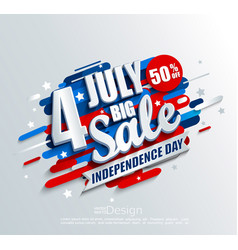 big sale banner for independence day vector image