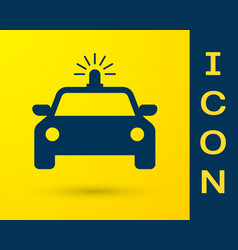 blue police car and police flasher icon isolated vector image