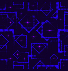 blue rhombuses and squares in intersection with vector image
