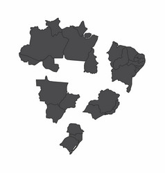 brazil regions maps vector image