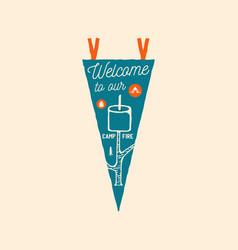 camping adventure pennant emblem vector image