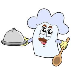 cartoon chef hat vector image