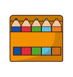 Colors box icon vector