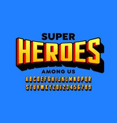 comics super hero style font vector image