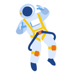 Cosmonaut flat vector