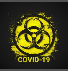Covid-19 biohazard sign 2019-ncov corona virus vector