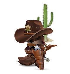 Cowboy Concept vector