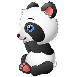 cute baby panda sitting vector image