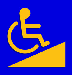 Disabled signs blue colors frame background sign vector