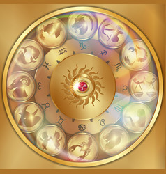 disks of the zodiac signs vector image
